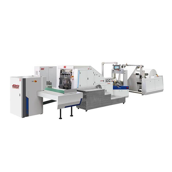 New version of roll feed high speed paper bag making machine
